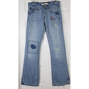 Levis 513 Embroidered bootcut jeans size 3